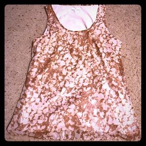 Brown Patterned Gap tank top blouse
